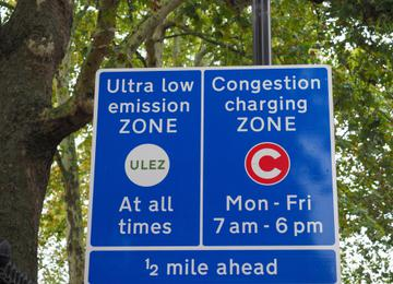 London Congestion Zone and ULEZ charge